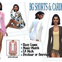 Bg Shorts & Cardigan