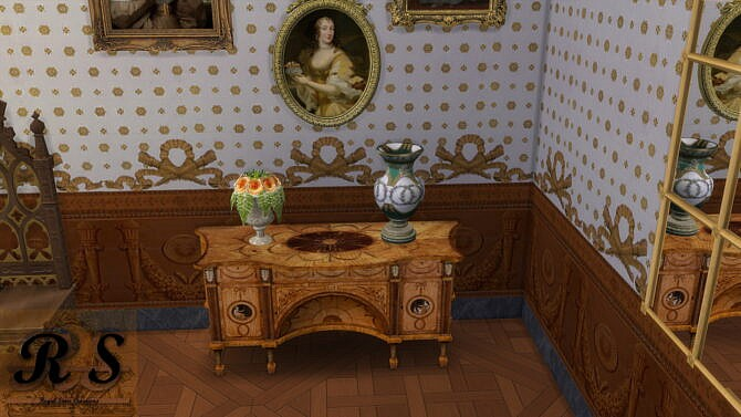 Sims 4 Neoclassical Commode Dressing Table at Regal Sims