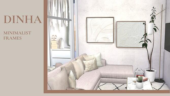 Sims 4 Minimalist Frames at Dinha Gamer