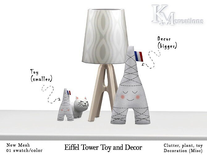 Sims 4 Eiffel Tower Playable Toy and Decor at KM