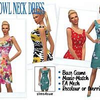 Bg Cowl Neck Dress