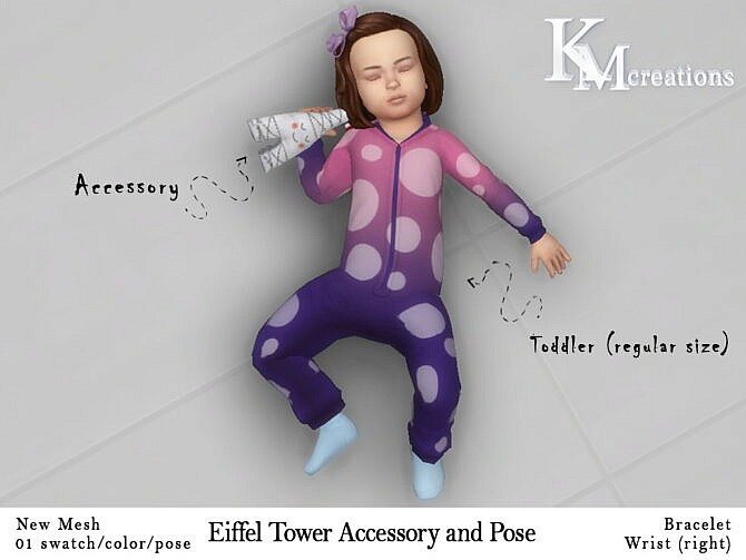 Sims 4 Eiffel Tower Accessory and Pose at KM