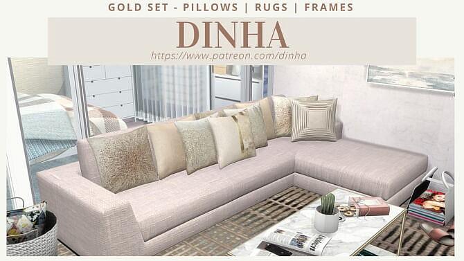 Gold Set Pillows | Rugs | Frames