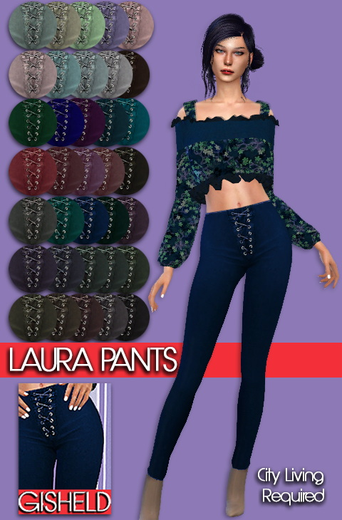 Sims 4 Laura Pants at Gisheld