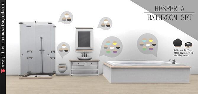Sims 4 Hesperia Bathroom Set at Satsujin