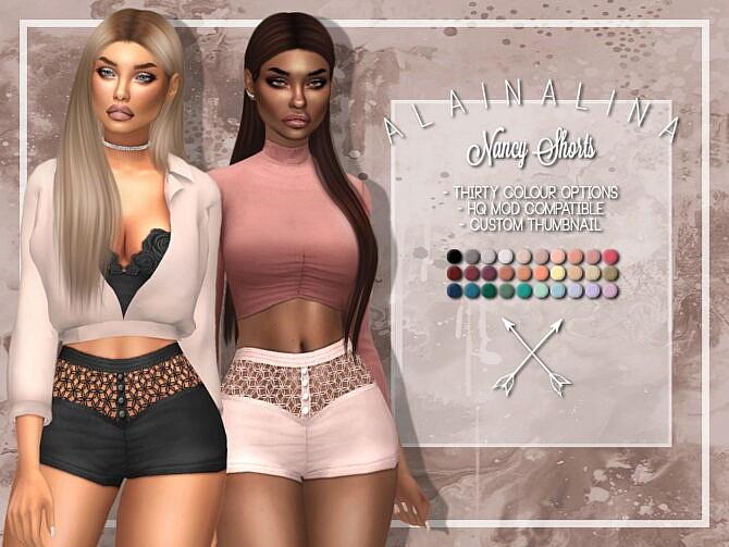 Sims 4 Nancy Shorts at AlainaLina
