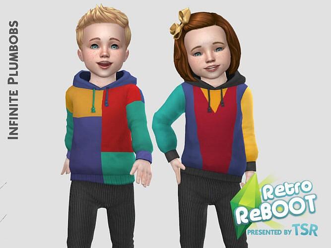 Ip Toddler Retro Colour Block Hoodie By Infiniteplumbobs