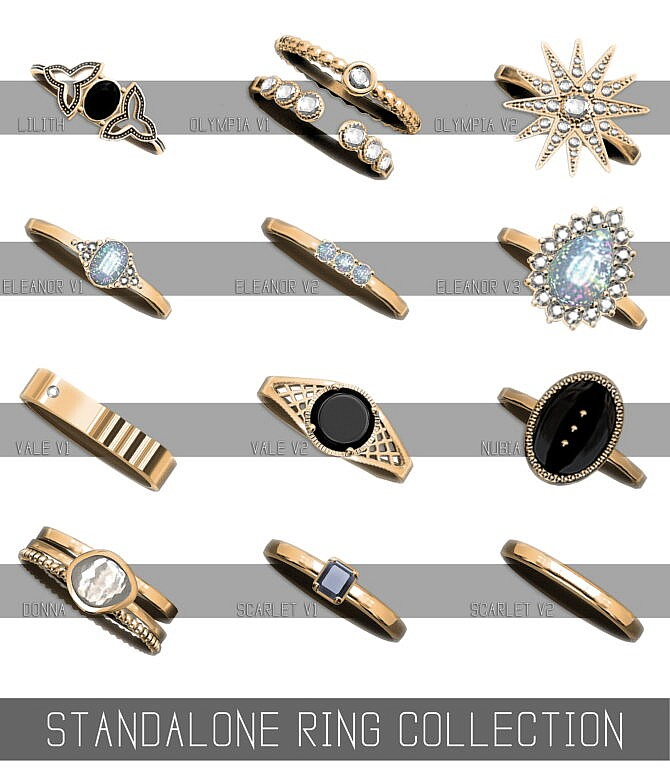 Sims 4 STANDALONE RING COLLECTION at Simpliciaty
