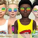 Retro 70s Rainbow Glasses By Pelineldis