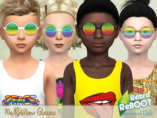 Retro 70s Rainbow Glasses By Pelineldis
