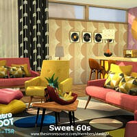 Retro Sweet 60s Living Room By Dasie2