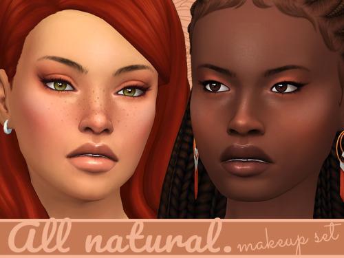 Sims 4 All Natural # 2 Makeup set at Frenchie Sim