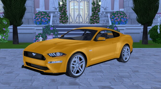 Sims 4 2019 Ford Mustang GT at Modern Crafter CC