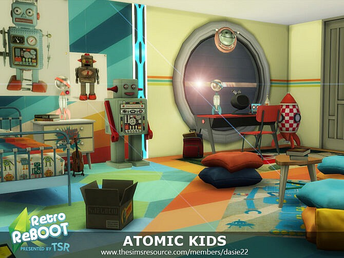 Sims 4 Retro ATOMIC KIDS ROOM by dasie2 at TSR