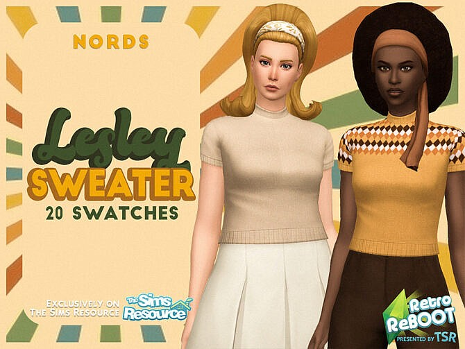 Sims 4 Retro Lesley Sweater by Nords at TSR