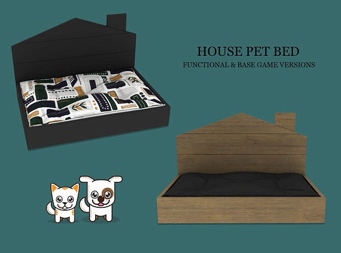 Sims 4 House Pet Bed at Leo Sims
