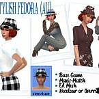 Bg Stylish Fedora (au)