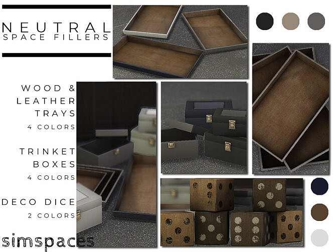 Sims 4 Neutral Space Fillers by simspaces at TSR