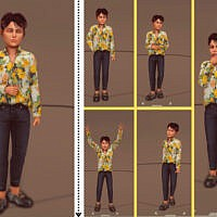 Kid Pose Pack (cas & Game Mode Set 3) By Couquett