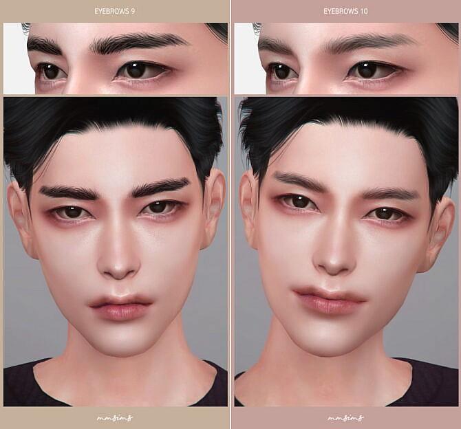 Sims 4 Eyebrows 7~10 at MMSIMS