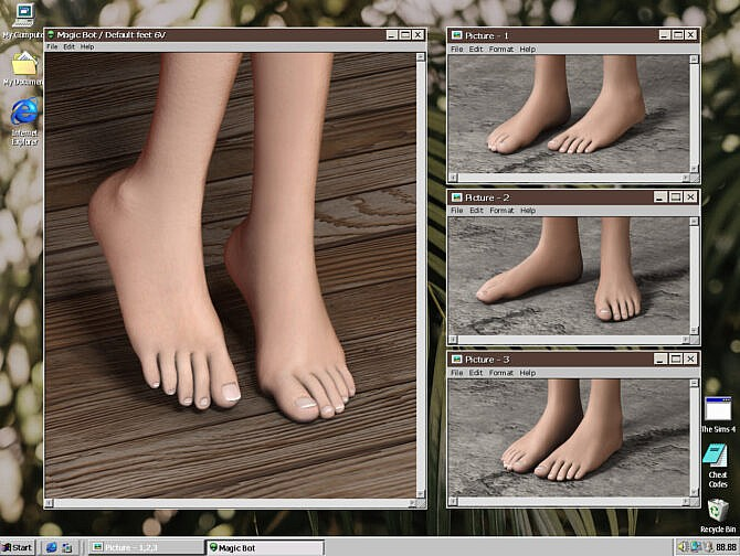 Sims 4 FEET 6V at Magic bot