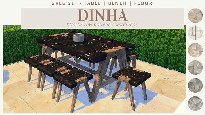 Greg Set: Table | Bench | Floor
