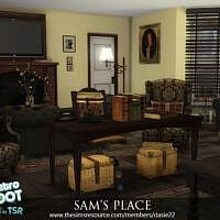 Retro Sam's Place Livingroom By Dasie2