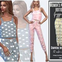 Women's Pajamas Bottom (joggers) By Sims House