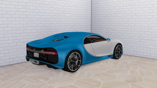 Sims 4 2017 Bugatti Chiron at Modern Crafter CC