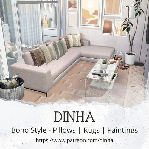 Boho Style: Pillows | Rugs | Paintings