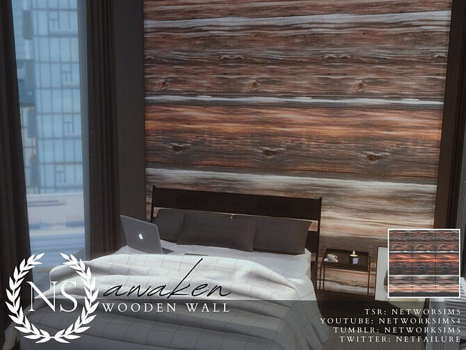 Sims 4 Awaken Wooden Walls by Networksims at TSR