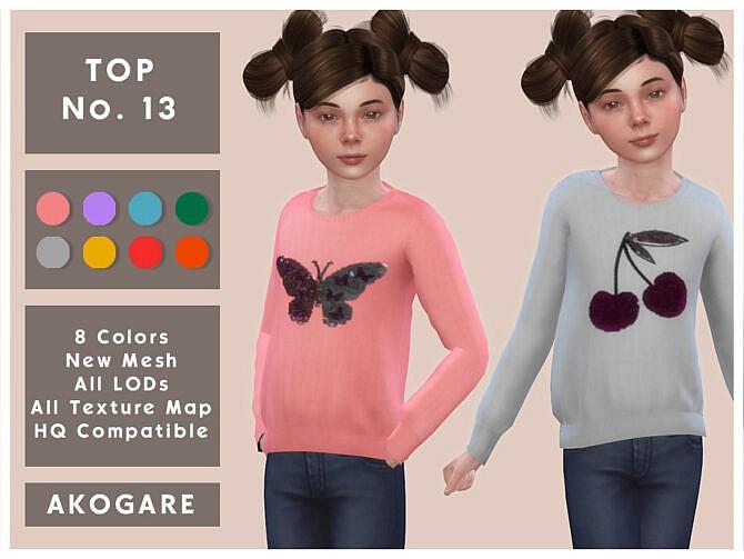 Sims 4 Top No.13 by Akogare at TSR