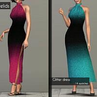 Glitter Dress, Sweater & Skirt