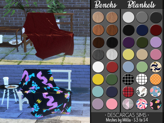 Bench And Blanket