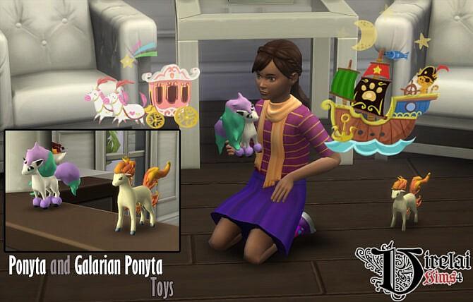 Sims 4 Ponyta and Galarian ponyta toys at Virelai