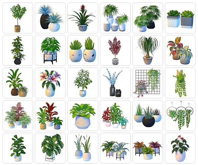 Sims 4 60+ Plants by Nynaeve Design