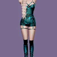 Sunmi-tail Outfit & Long Boots & Pose