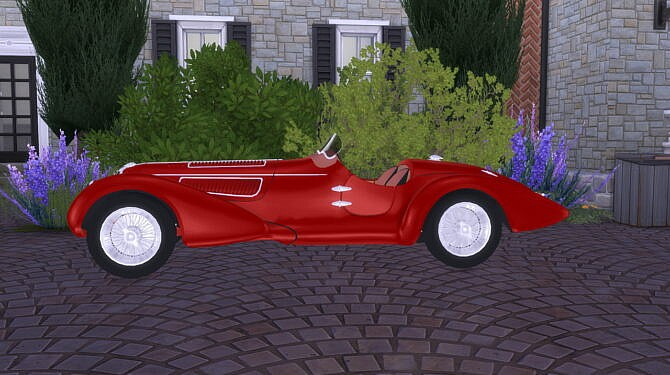 Sims 4 Alfa Romeo 8C 2900 Mille Miglia at LorySims