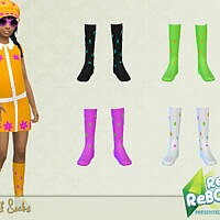 Retroreboot 70s Calf Socks By Pelineldis