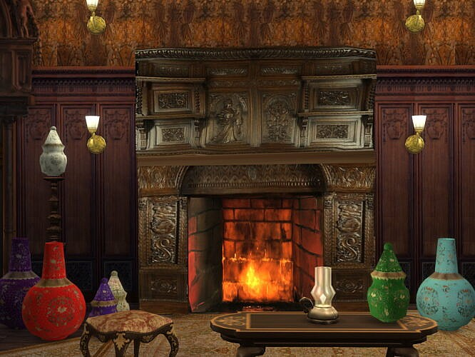 Fireplace & Vases