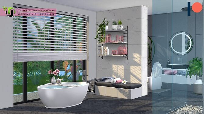 Sims 4 Jonna Bathroom by Nynaeve Design