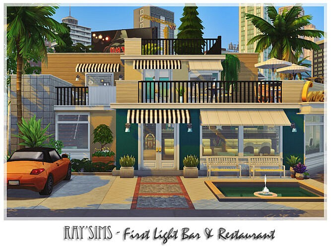 Retro First Light Bar & Restaurant By Ray_sims