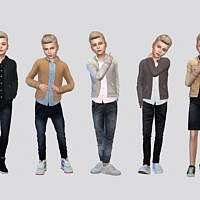 Clyde Leather Jacket Boys By Mclaynesims