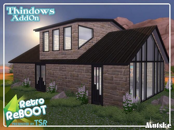 Sims 4 Retro Thindows AddOn Part 1 by mutske at TSR