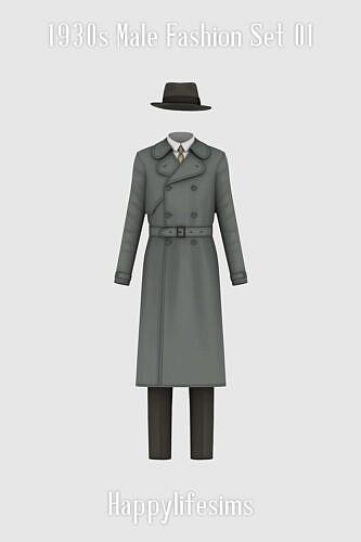 1930s Male Fashion Set 01