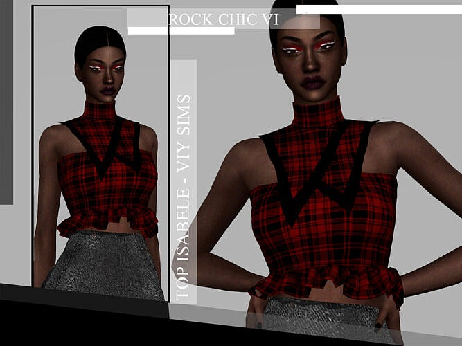 Rock Chic Vi Top Isabele By Viy Sims