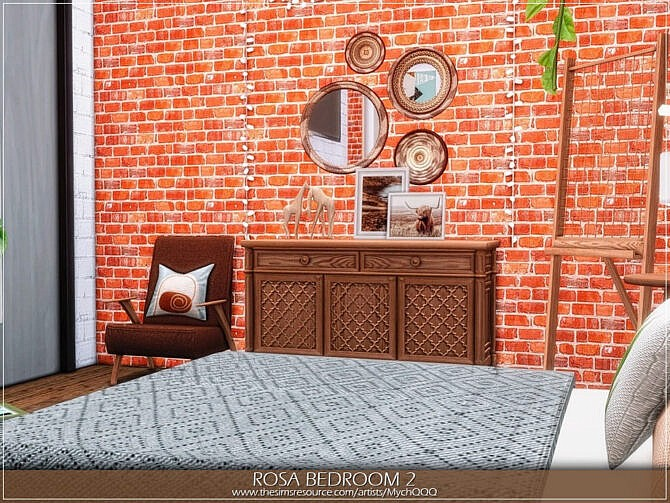 Sims 4 Rosa Bedroom 2 by MychQQQ at TSR