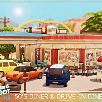 Retro 50's Diner And Drive-in Cinema By Mini Simmer