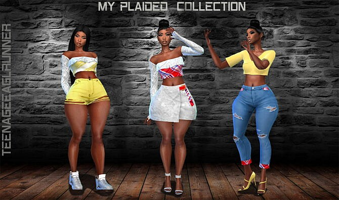 Sims 4 Plaided Collection at Teenageeaglerunner