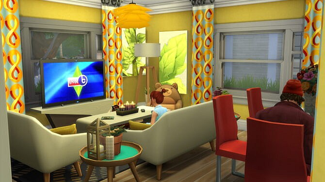 Sims 4 Colorful Small family house 20x15 by bradybrad7 at TSR